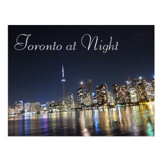 Ansicht von Toronto nachts Postkarte