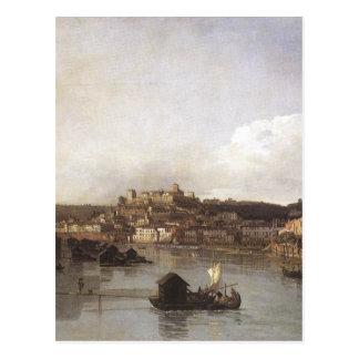 Ansicht von Verona und von Etsch vom Ponte Postkarte