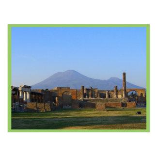 Ansicht von Vesuv über den Ruinen von Pompeji Postkarte