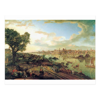 Ansicht von Warschau von Praga durch Bernardo Postkarte