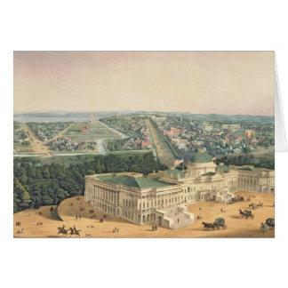Ansicht von Washington, Kneipe. durch E. Sachse u. Karte