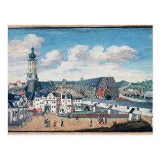 Ansicht von Weimar mit dem Schloss von Postkarte