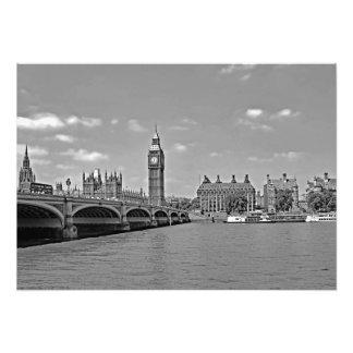 Ansicht von Westminster-Brücke Fotodruck