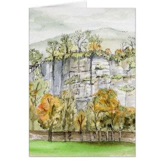 """""""Ansicht von Willersley Schloss"""" Derbyshire, Karte"""