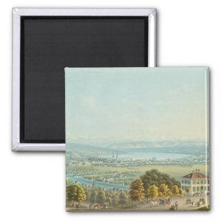 Ansicht von Zürich, c.1840 (w/c) Quadratischer Magnet