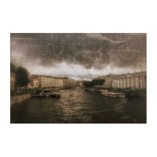 Ansicht zu Fontanka Fluss. St. Petersburg, Acryldruck