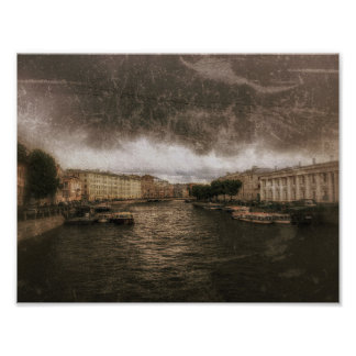 Ansicht zu Fontanka Fluss. St. Petersburg, Poster
