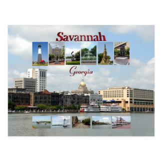 Ansichten der Savanne Georgia Postkarten