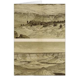 Ansichten, die Osten und Süden von Mt Trumbull Karte