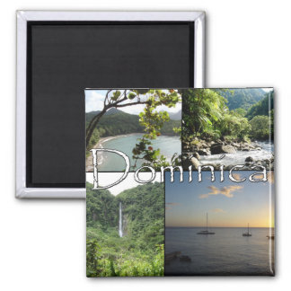 Ansichten von Dominica-Magneten Quadratischer Magnet