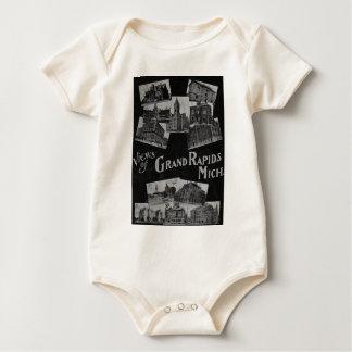 Ansichten von Grand Rapids Michigan Vintag Baby Strampler