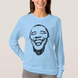 Ansteckendes Lächeln Obama langes Sleave T T-Shirt