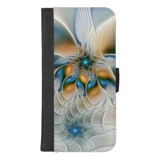 Ansteigen, abstrakte Fantasie-Fraktal-Kunst mit iPhone 8/7 Plus Geldbeutel-Hülle