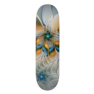 Ansteigen, abstrakte Fantasie-Fraktal-Kunst mit Skateboard Deck
