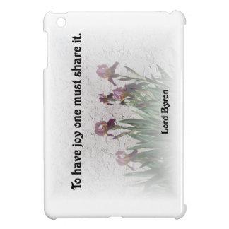 Anteil-Freude und lila Iris iPad Mini Hülle