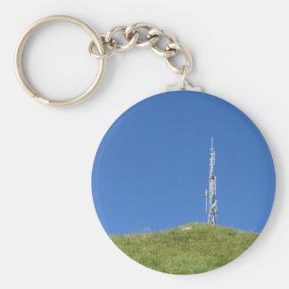 Antenne auf die Oberseite des Berges gegen den Schlüsselanhänger