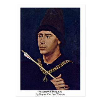 Anthony von Burgunder durch Rogier van der Weyden Postkarte