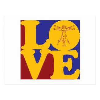 Anthropologie-Liebe Postkarte