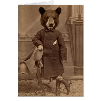 Anthropomorphe Bärn-Entschuldigungs-Gruß-Karte Grußkarte
