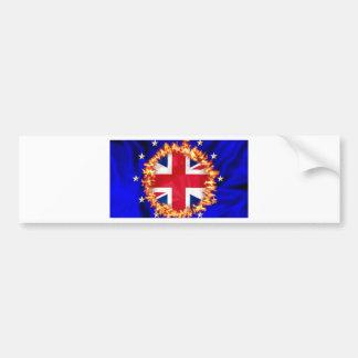 Anti-EU Brexit Symbol Autoaufkleber