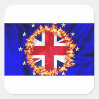 Anti-EU Brexit Symbol Quadratischer Aufkleber