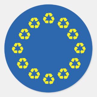 Anti-EU kennzeichnen die europäische Gewerkschaft, Runder Aufkleber