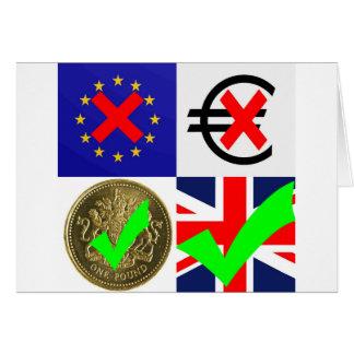Anti-EU u. Euro, Pro-Großbritannien u. Pfund Karte