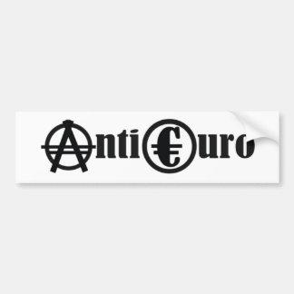 ANTI EURO AUTOAUFKLEBER