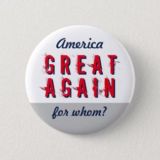 Anti geben Sie Amerika große wieder Runder Button 5,7 Cm