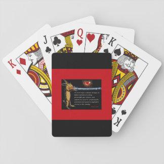 Anti-Gewehr Gewalt - hören Sie zum Häschen Spielkarten