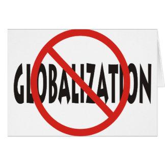 Anti-Globalisierung Karte