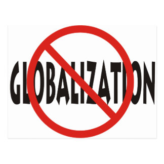 Anti-Globalisierung Postkarte
