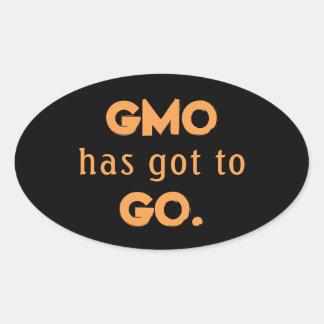 Anti-GMO Ovaler Aufkleber