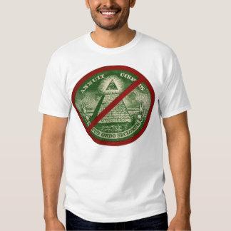 ANTI-ILLUMINATI Linie T - Shirt für Männer