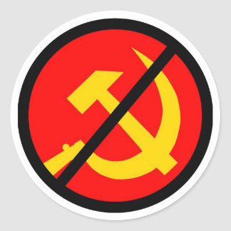 Anti-kommunistisch Runder Aufkleber