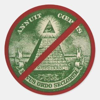 Anti-Neuer Weltordnungs-Aufkleber Runder Aufkleber