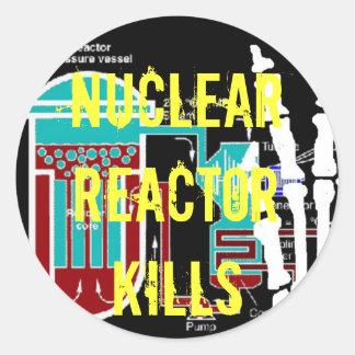 Anti-Nukleare Reaktor-Protest-Produkte Runder Aufkleber