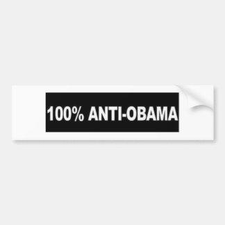 Anti-Obama 100% Autoaufkleber