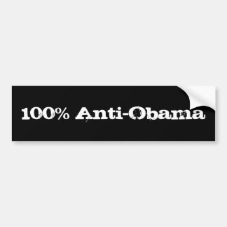 Anti-Obama 100% Autoaufkleber