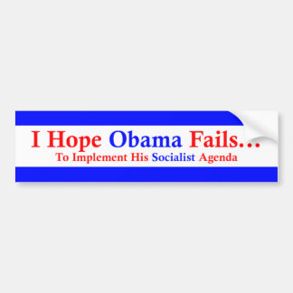 Anti-Obama 1 Auto Aufkleber