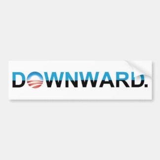 """Anti-Obama 2012 - """"ABWÄRTS. """" Auto Aufkleber"""
