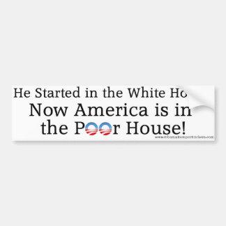 """Anti-Obama """"Amerika ist im schlechten Haus """" Autosticker"""