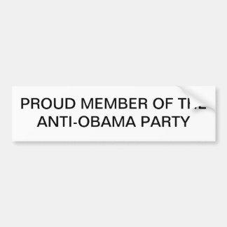 Anti-Obama Autoaufkleber