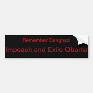 Anti-Obama Banghazi Autoaufkleber