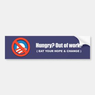 Anti-Obama - hungrig - essen Sie Ihre Hoffnung und Autoaufkleber