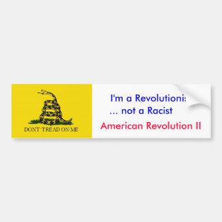 Anti-Obama: Ich bin nicht ein Rassist Autoaufkleber