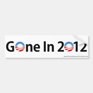 """Anti-Obama """"im Jahre 2012 gegangen """" Auto Sticker"""