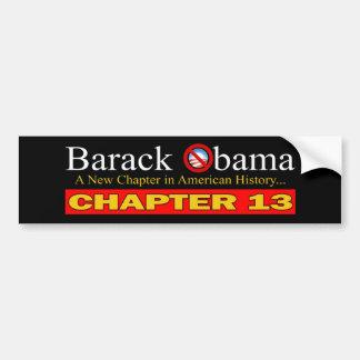 Anti-Obama - neuer Kapitel-… Konkurs Autoaufkleber