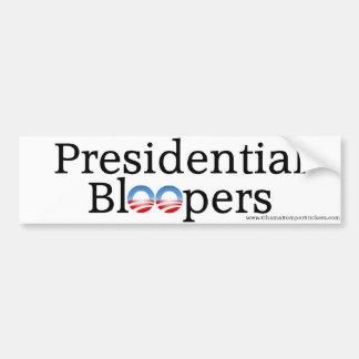 """Anti-Obama """"Präsidentenschnitzer """" Auto Sticker"""