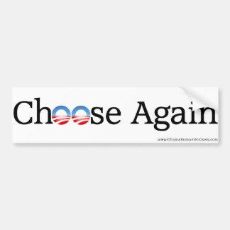 """Anti-Obama """"wählen wieder """" Autoaufkleber"""